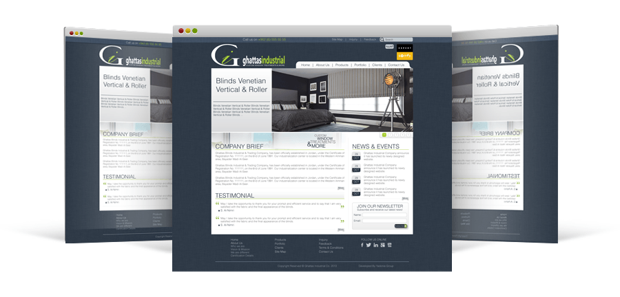 Yadonia Group upgraded a website design for Ghattas Industrial & Trading to provide an array of robust features