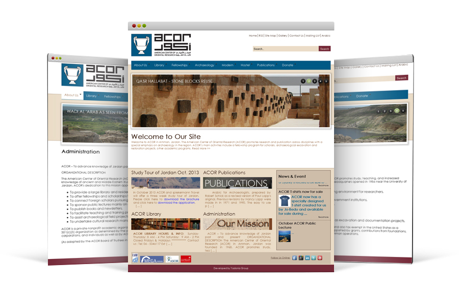 Website Development Company in Amman, American Center for Oriental Research