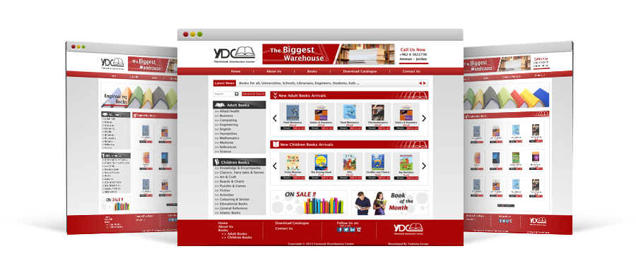 Online Book Store Portal Design for Yarmouk Distribution Center by Yadonia Group
