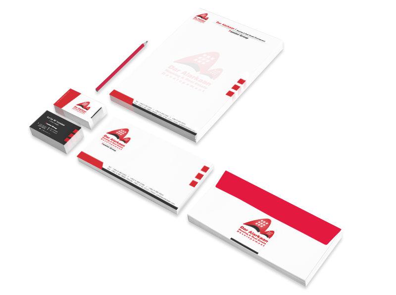 Corporate Identity & Website Design for Dar Alarkaan by Yadonia Group