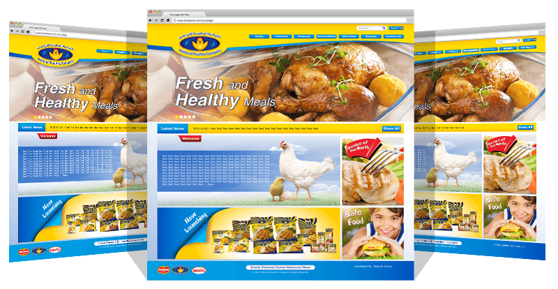 Yadonia Group Completed a Responsive Website Design for National Poultry Company