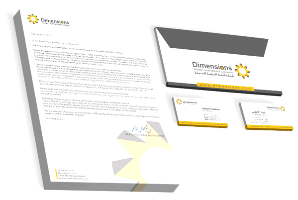 Logo & Corporate Identity Design for Modern International Dimensions by Yadonia Group