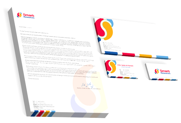 Responsive Website, Logo, and Corporate Identity Designed for Smart Resources L.L.C by Yadonia Group