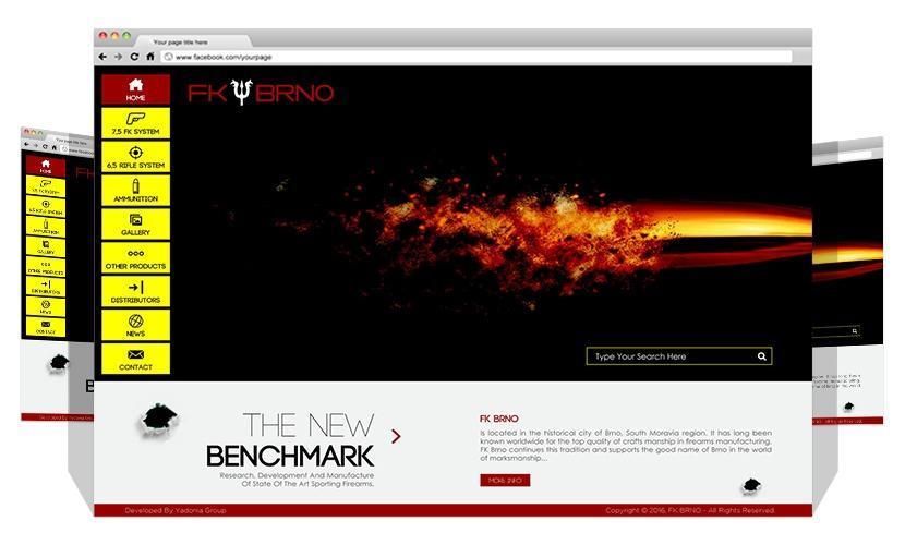 مجموعة يادنيا تطور الموقع الإلكتروني لشركة أف كي برنو