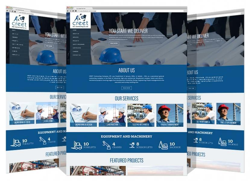 Yadonia Group Developed Creet Contracting Co. Website