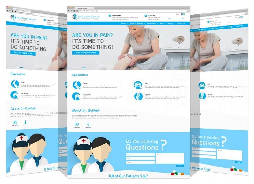 Yadonia Group Designed Logo & Website For Dr. Qutaiba Darwesh Clinic