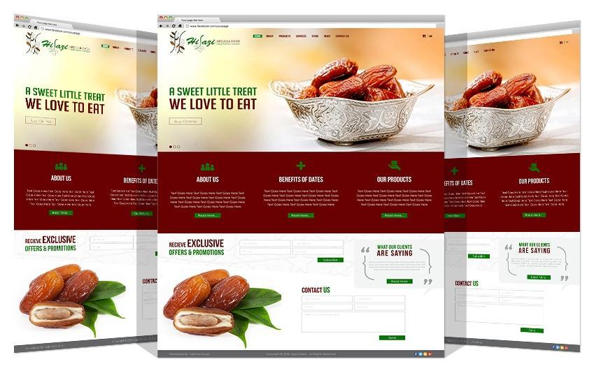Yadonia Group Developed Hijazi Dates Co. Website