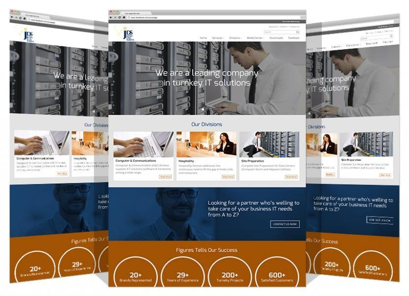 Yadonia Group Developed Jordan Data System Responsive Website