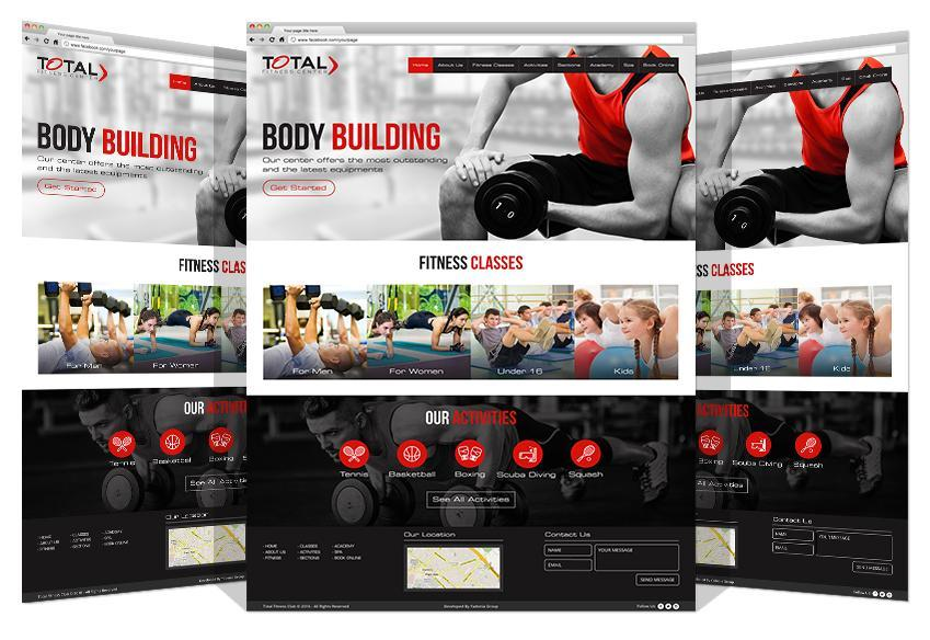 Total Gym Website Development By Yadonia Group