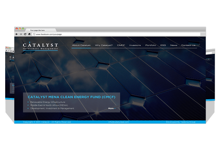 Yadonia Group Developed Catalyst Co. Website