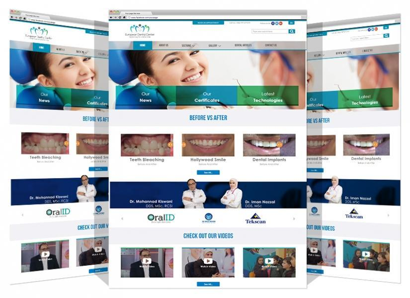 Yadonia Group Designed The Logo & Website For Euro Dental Center