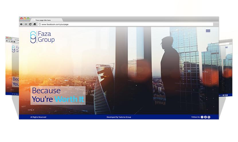 Yadonia Group Developed Faza Group Website