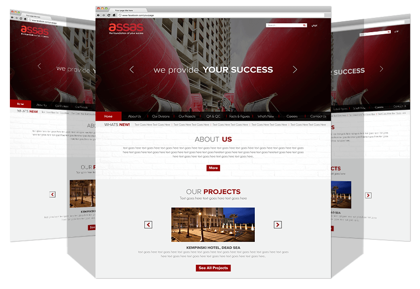 Yadonia Group Developed Assas Co. Website