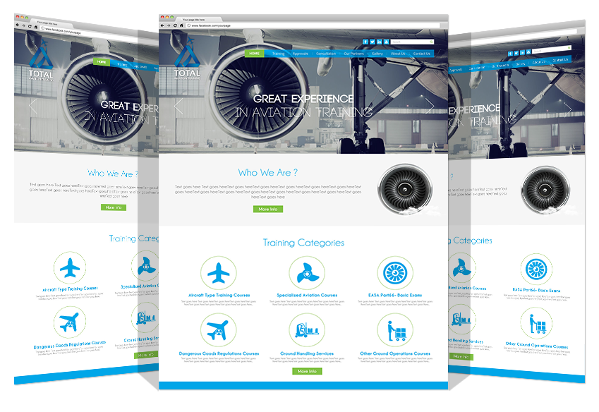 Website Update for Total Aviation Co. By Yadonia Group