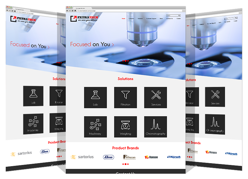 Yadonia Group Developed Petra Tech Scientific Website