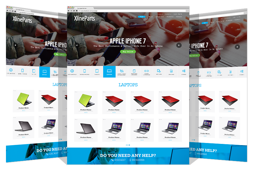 Website Development For X-Line Co. By Yadonia Group
