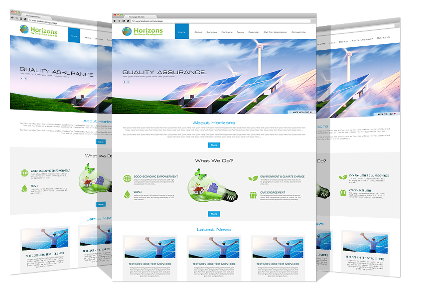 Yadonia Group Developed Horizons Co. Website