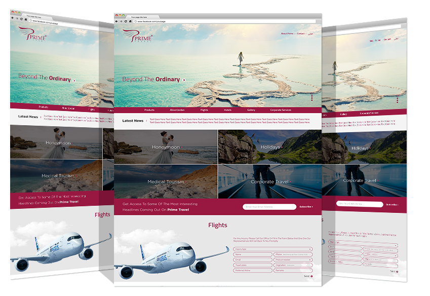 Yadonia Group Developed Prime Travel Website