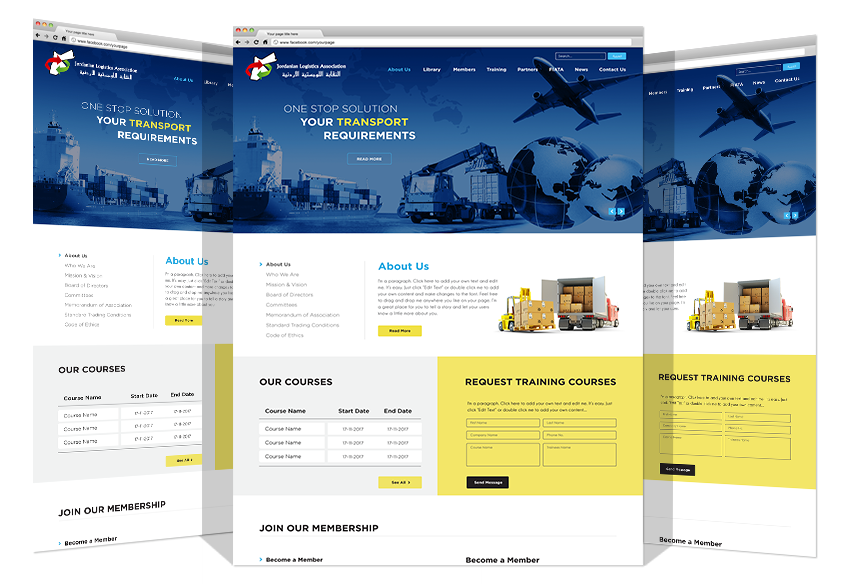 Jordanian Logistics Association New Website By Yadonia Group