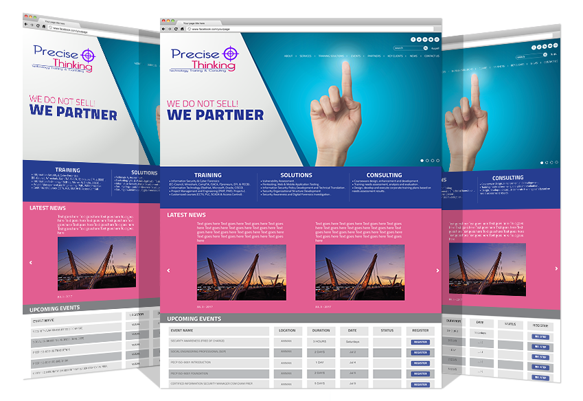 Website Development For Precise Thinking Co. By Yadonia Group