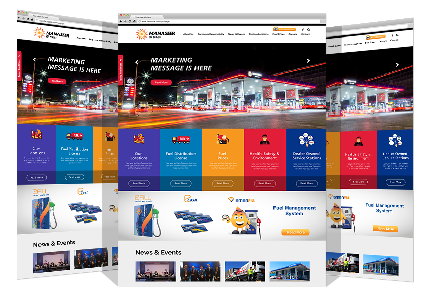 Responsive Website For Manaseer Oil & Gas By Yadonia Group
