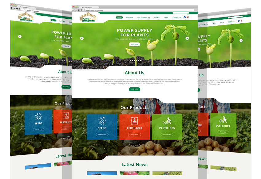 AL Anfal Fertilizer Industry Co. Website By Yadonia Group