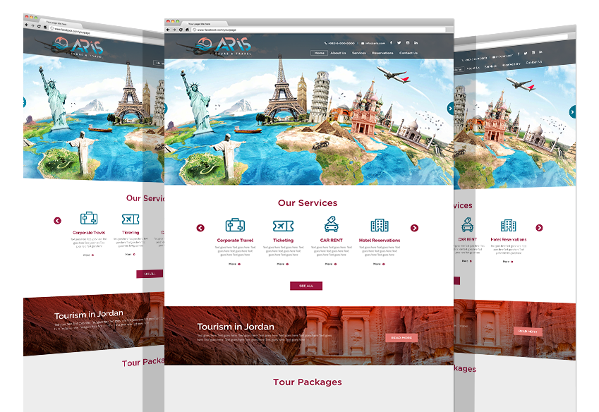 Responsive Web Experience For Aris Tourism Co.