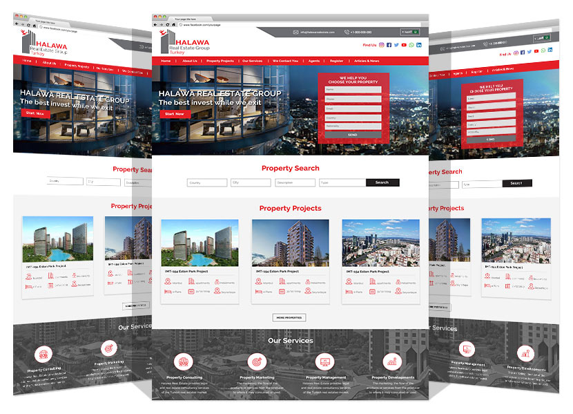 Halawa Real Estate website by Yadonia Group