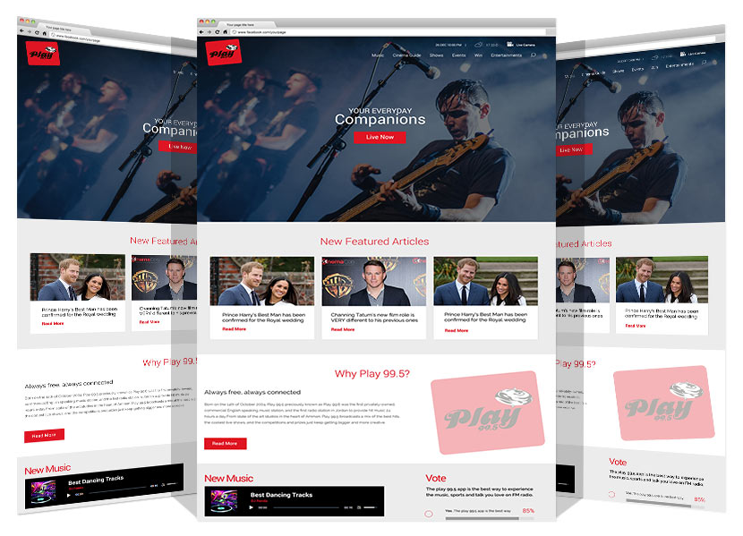 New Website for Play FM By Yadonia Group