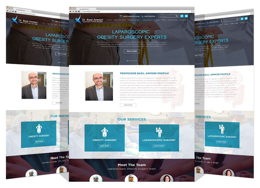 Yadonia Group Developed Dr. Basil Amouri Website